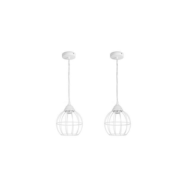 Set di 2 lampadari vintage industriali Lampadario pendente da soffitto Lampade da sospensione in metallo Portalampada E27 per soggiorno cucina bar Alt 13m