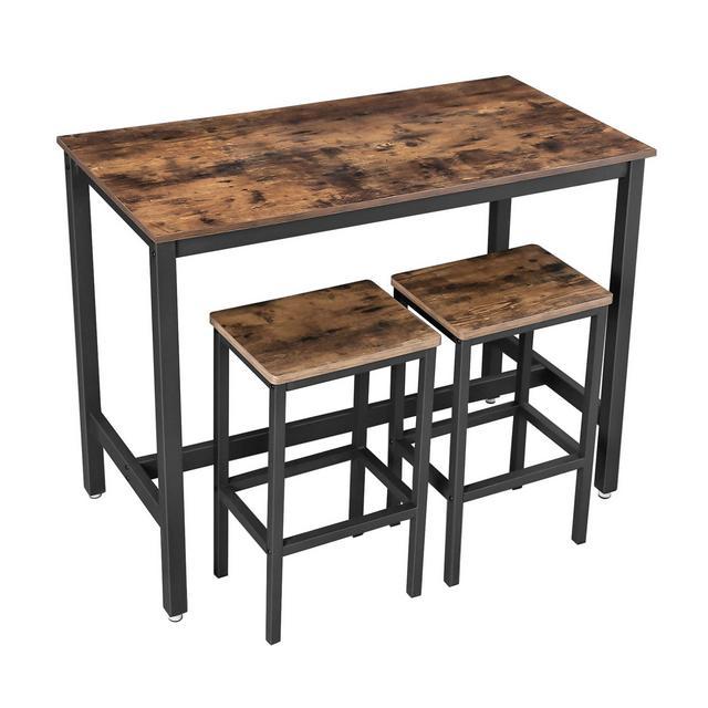 Set di Tavolo da Bar con 2 Sgabelli da Bar Set di Sedie da Pranzo con Tavolino per cucina Soggiorno Stanza da Festa in Stile Industriale