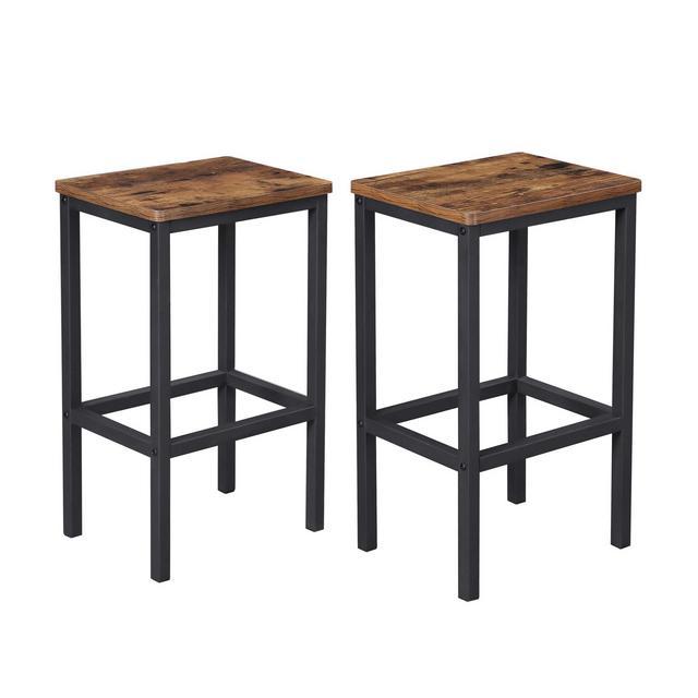 Sgabelli da Bar Set di 2 Sedie da Bar Sgabello da Pranzo con Poggiapiedi per cucina Soggiorno Stanza da Festa in Stile Industriale Marrone Vintage