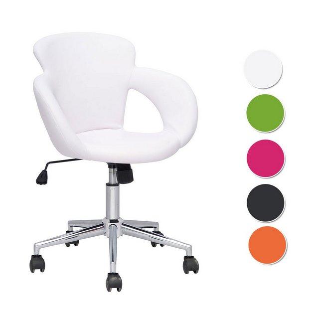 SixBros Design Sgabello Girevole da Lavoro Sedia da Ufficio Bianco