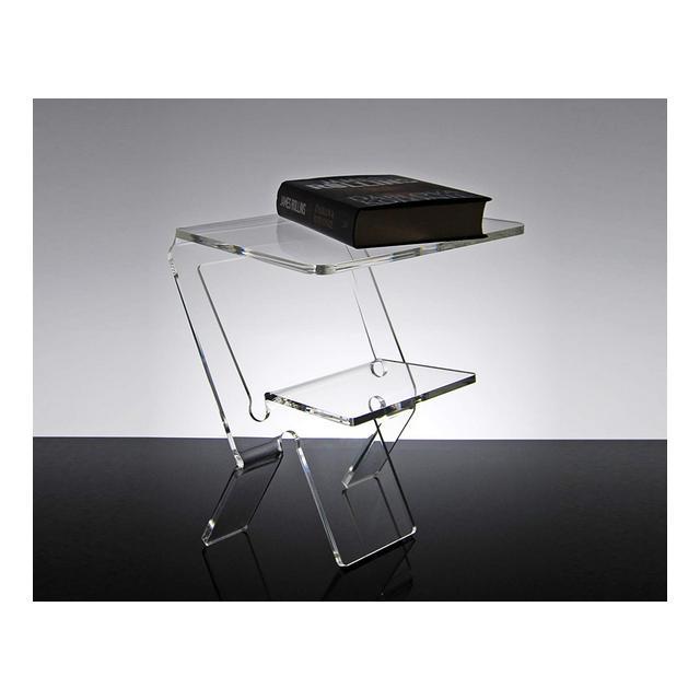 Slato Comodino da Notte dal Design Moderno in plexiglass Trasparente Oniro 32 × 27 × h 38 cm