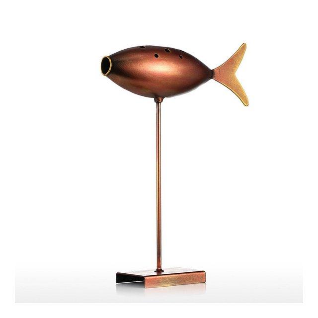 Sommergibile Pesce Metallo Scultura Home Decorazione Creativa Scultura Pesce