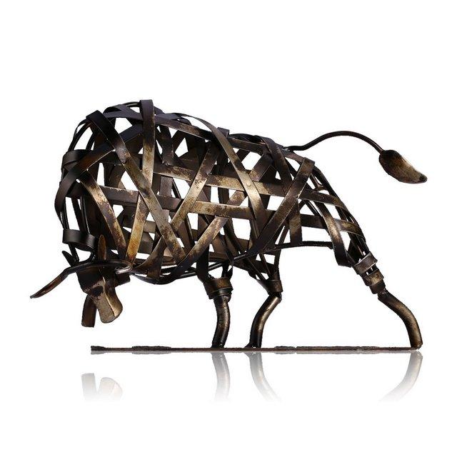 Statue Decorative Metallo Scultura in Ferro Intrecciato Bestiame Arredamento Per La Casa Articoli Artigiali Fatti a Mano