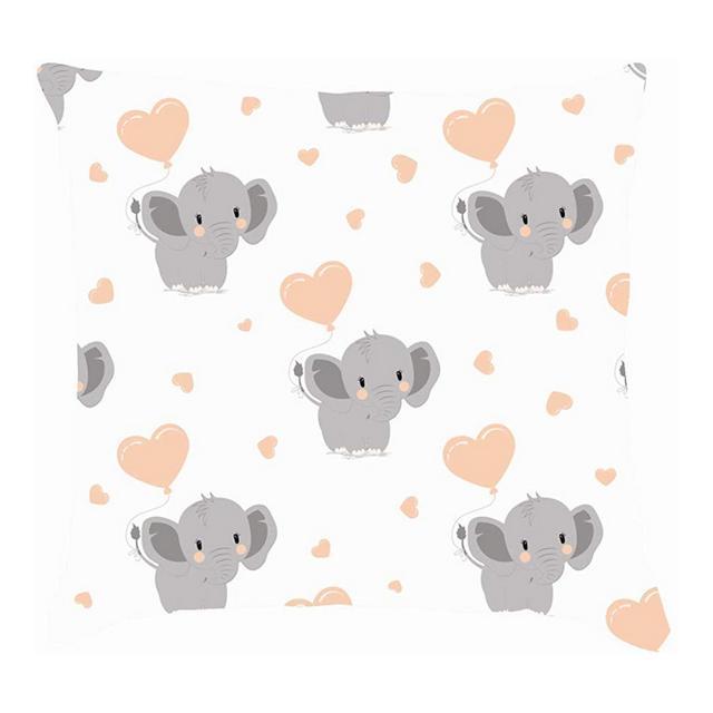 Stile Cartoon Divertenti Elefanti a Palloncino Animali Fau Selvatica Fodere per Cuscini Fodere per Cuscini in Lino di Cotone Federe