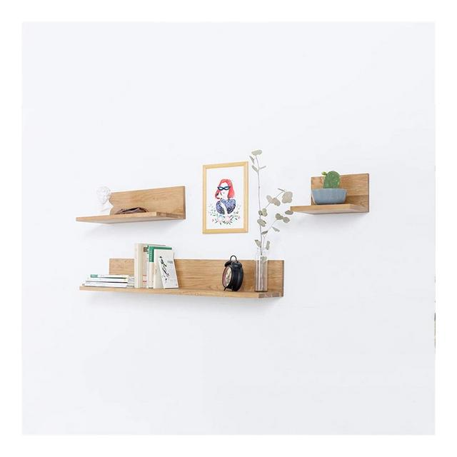 Struttura Decorativa di galleggiamento della Struttura a Forma di L del Telaio a Parete del divisorio a Parete di Legno Solido 1113 Color A Size 25 * 23 * 155CM