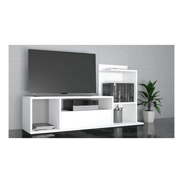 THETA DESIGN by Sumatra Porta TV Bianco 125 x 425 x 115 cm