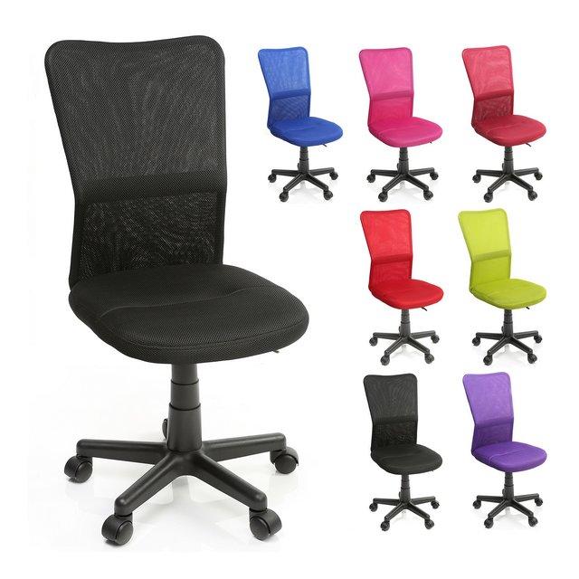 TRESKO Sedia da Ufficio Sedia da scrivania Girevole in 6 Colori Diversi Regolabile in Altezza Sedile Imbottito Sedia ergonomica pistone Approvato SGS Nero
