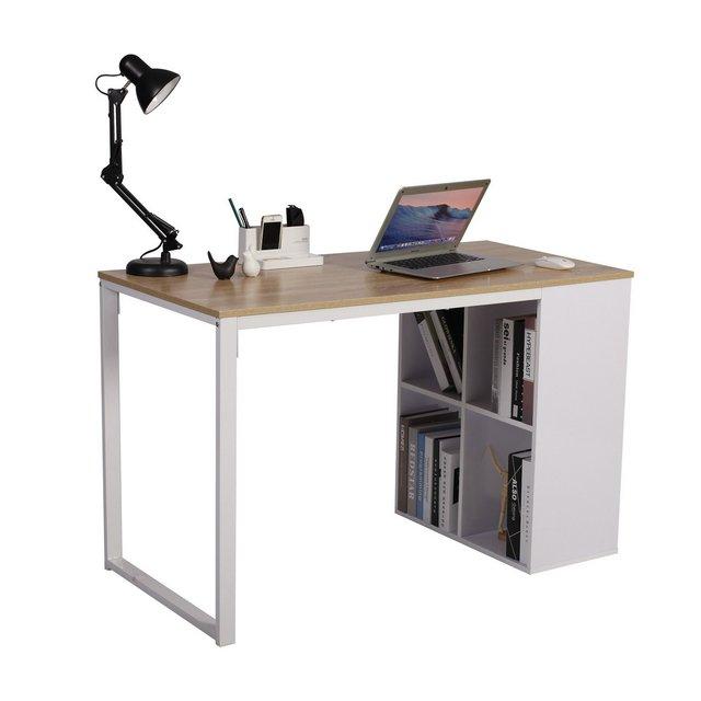 TSG26hei Scrivania per Computer Postazioni di Lavoro Tavolo da Studio con Libreria in Acciaio Legno