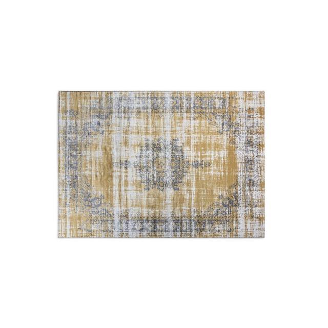Tappeti Vintage Tappeto per Salotto e Camera da Letto Disponibile in Diversi Colori e Taglie Ocra 133_x_200_cm