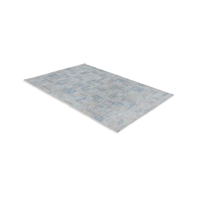 Tappeti in Polipropilene per Uso Interno ed Esterno Disponibili Diverse Fantasie Colori e Misure AvorioArgentoBlu 60_x_110_cm