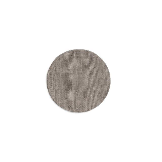 Tappeto Rotondo Tappeto 100% La Realizzato a Mano Disponibile in Diversi Colori 150 cm Grigio 150cm