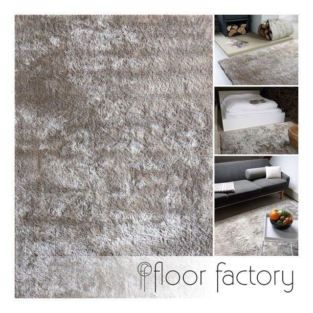 Tappeto moderno Delight grigio argento 200x290cm tappeto esclusivo morbido e serico