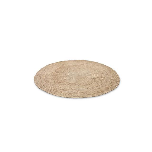 Tappeto rotondo intessuto a mano in capa turale biologico ed ecologico rotondo tappeto di capa per soggiorno corridoio  140 cm