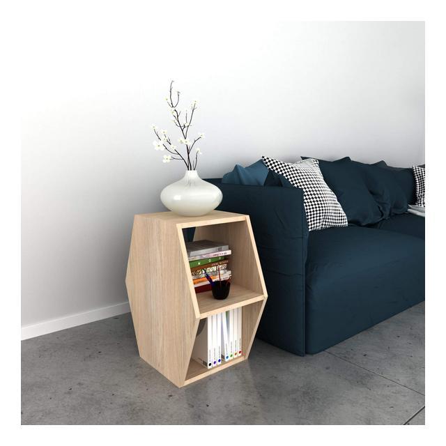 Tavolino Basso da caffè Gift Porta Riviste Libri con Ripiani da Salotto Divano Sonoma in Legno 336 x 52 x 60 cm