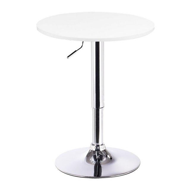 Tavolino da Bar Girevole Piano Rotondo Diametri 60 cm Tavolo da cucina Bianco