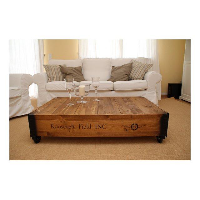 Tavolino da caffè in legno di noce stile vintage casual ma elegante casa di campag