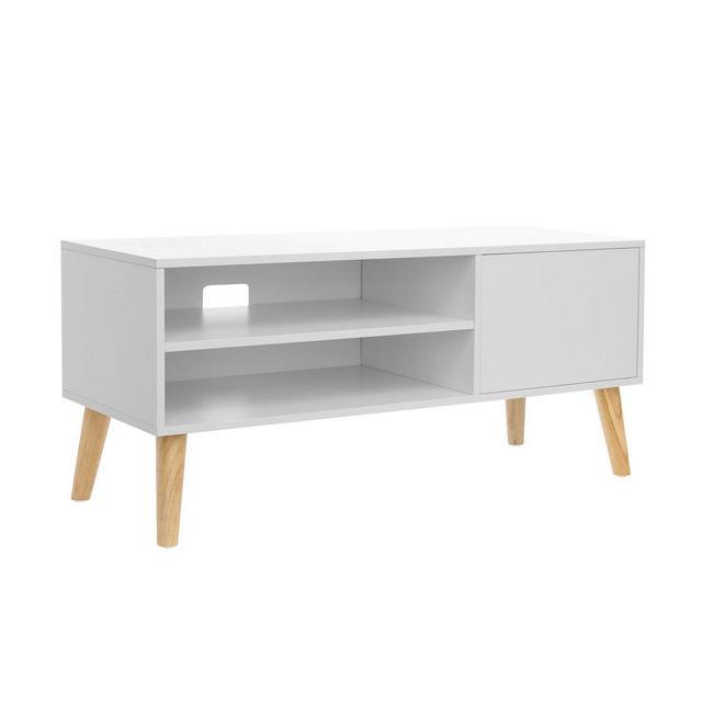 Tavolino per TV TV Consolle Tavolino Porta TV in Stile Scandivo in Soggiorno Ufficio Bianco LTV09WT