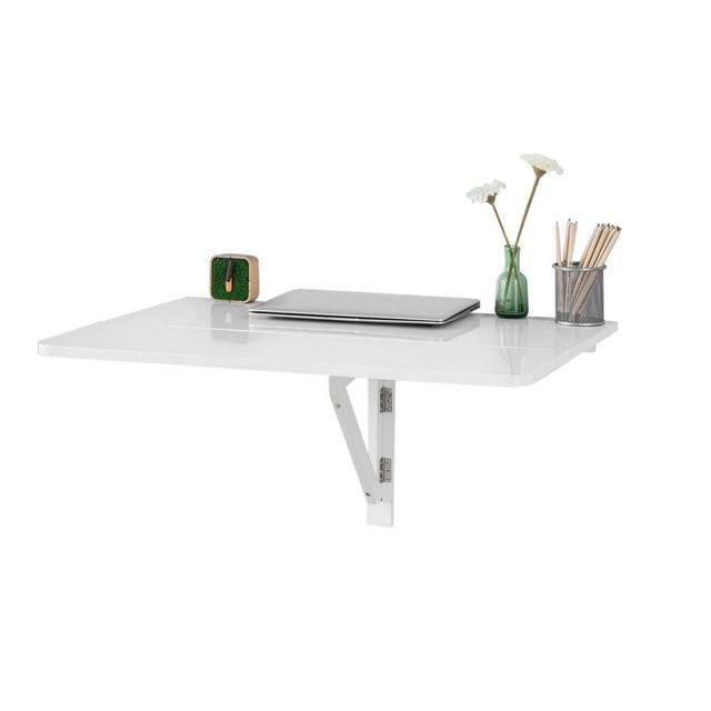 Tavolo da muro pieghevole 80 * 60cm2x pieghevole bianco