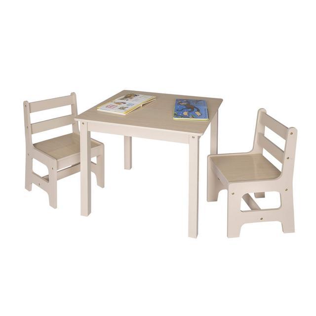 Tavolo e Sedie per Bambini Soggiorno Tavolino con 2 Sgabelli Set Mobili in Legno