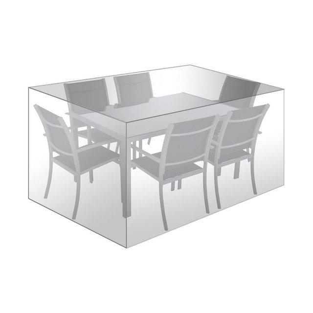 Telo Protettivo per mobili da Giardino in Tessuto Impermeabile 242 x 162 x 100 cm Trasparente