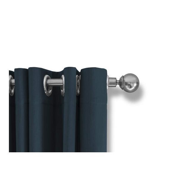 Tende Oscuranti con Occhielli 100% Poliestere Azzurro 250_x_150_cm