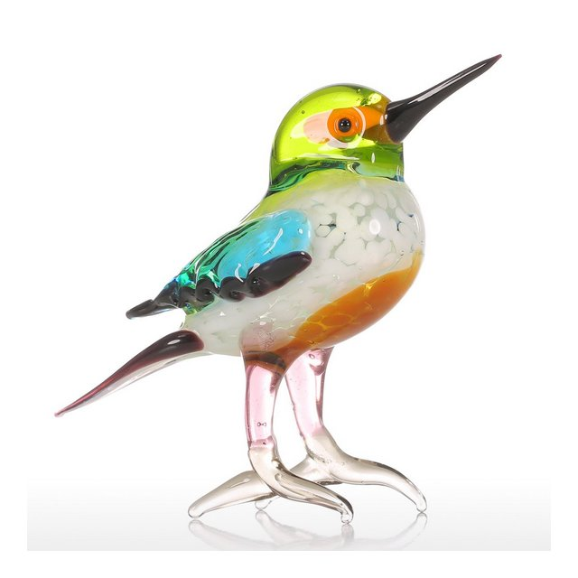 Tiny Bird Regalo Ormento di vetro Figurine Animale Hand Blown Decorazione Domestica Multicolore