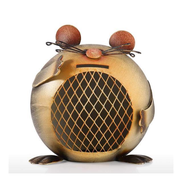 Tooart Piggy Bank Salvadaio Salvadaio Banca di Moneta a Forma di Topo Banca di Moneta Animale Sveglia
