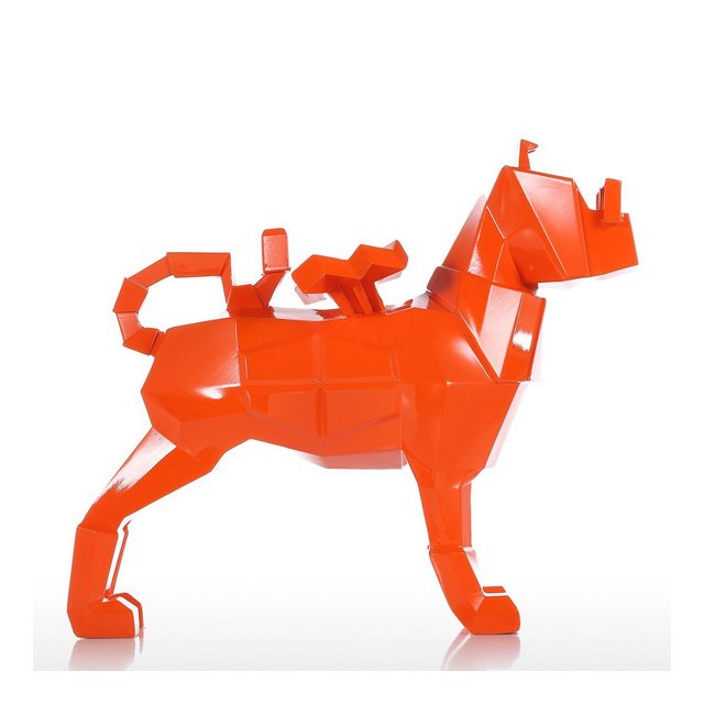 Tooart Scultura del Cane Statua di Cane Figurine Statua Arte Moder Scultura in Resi Animale per Home Office Decor