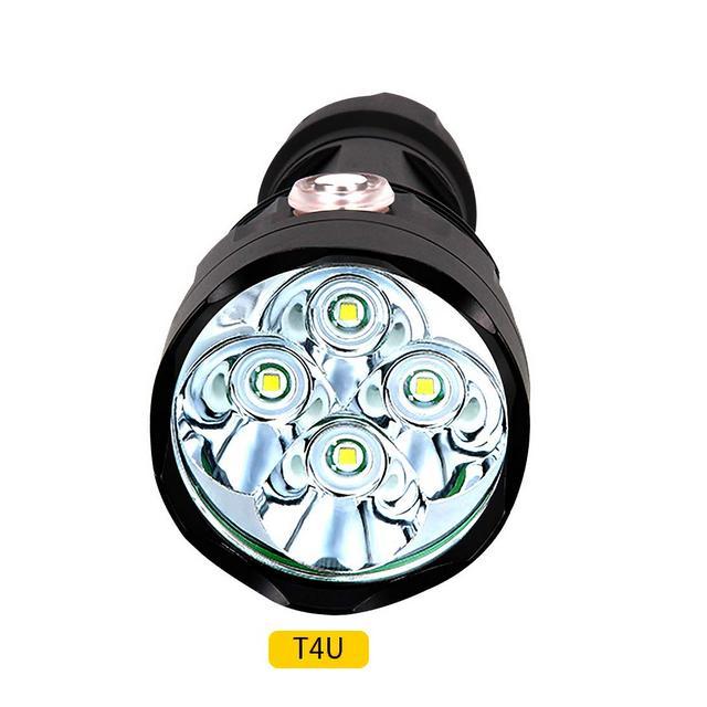 Torcia a LED Torcia Palmare Impermeabile Super Luminosa Tasca da Lavoro Leggera in Lega di Alluminio Illumizione di Emergenza Tramite Ricarica USB
