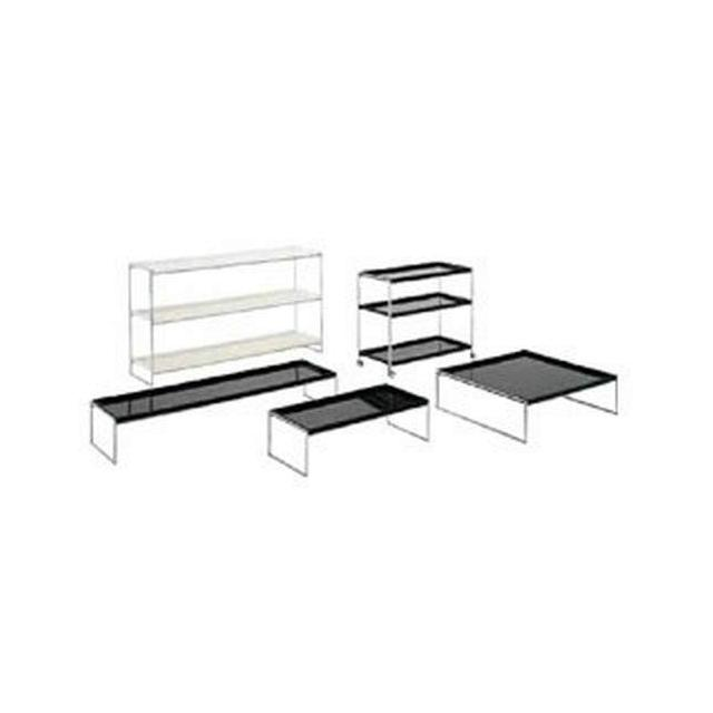 Trays Side Table Tavolino Nero 142 x 40 x 25 cm