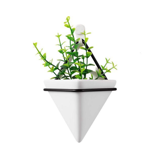 Triangolo Vaso da Parete Grilletto Vasi da Appendere & Geometrico Piantatore Parete Decorazione Impianto di Aria Contenitore per Casa e Ufficio Decorazione Regalo di CompleannoPiccolo