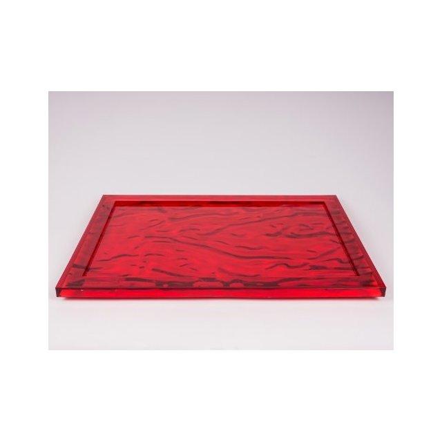 """Vassoio """"Dune"""" Colore Rosso"""