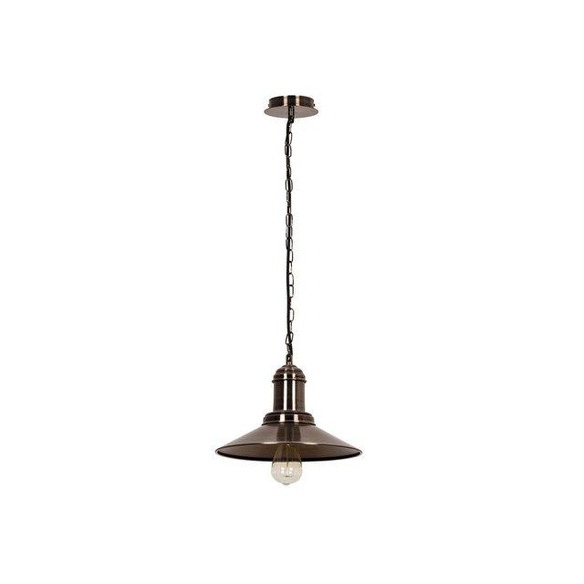 Vintage Lampada a Sospensione Metallo Argento Anticato 30 x 24 cm Cavo 110 cm 68 unità