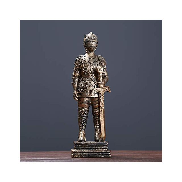 WEIFAN CAI Armor Warrior Holding Sword Cabinet Room Salotto Negozio di Abbigliamento Decorazioni Display Regali Armatura Warrior Holding Sword Oro