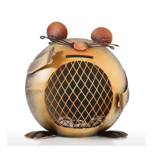 WZLDP Salvadaio salvadaio per Mouse pratici Mestieri Decorativi Ormenti in Ferro battuto Regali Fatti a Mano Monete in Metallo scatole per Banconote Decorazioni per la casa