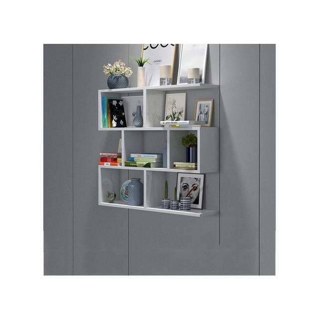 Wall Cabinet Living Room Kitchen Rack Studio Office Scaffale a Parete 1116 Color A Size 60 * 15 * 97CM