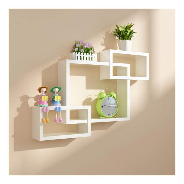 Wall Shelf Living Room Camera da Letto TV Background Wall Decoration Frame Semplici mobili galleggianti 1107 Color C