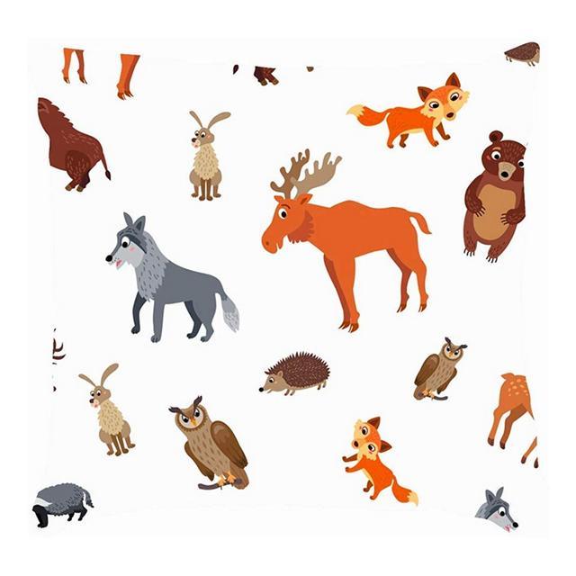 Wild Europe Animali Fau Selvatica Europea Cuscini per Cuscini per Animali Cuscini per Cuscini in Lino di Cotone Federe