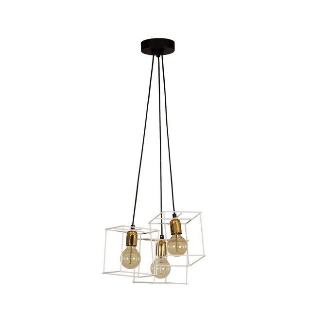 Wire Lampada a Sospensione Metallo BiancoOro 40 cm 20 cm Cable 150 cm 85 unità