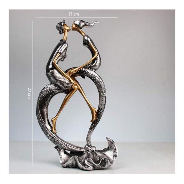 Xiner Sopramobile Soprammobili Ormenti Couple Statue Statue En Résine Artisat Décoration De La Maison