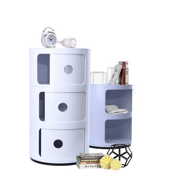 XuanYue Contenitore Componibile 3 Cassettiera Bianco Cassettiera