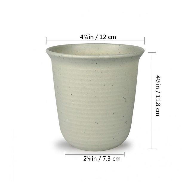 YIWAI Vaso di Fiori 25 Pollici Rotondo in Plastica per Fioriera Succulenta Cactus Cactus Vaso da Fiori Contenitore Vaso da Giardino Decorazione da Giardino in Marmo