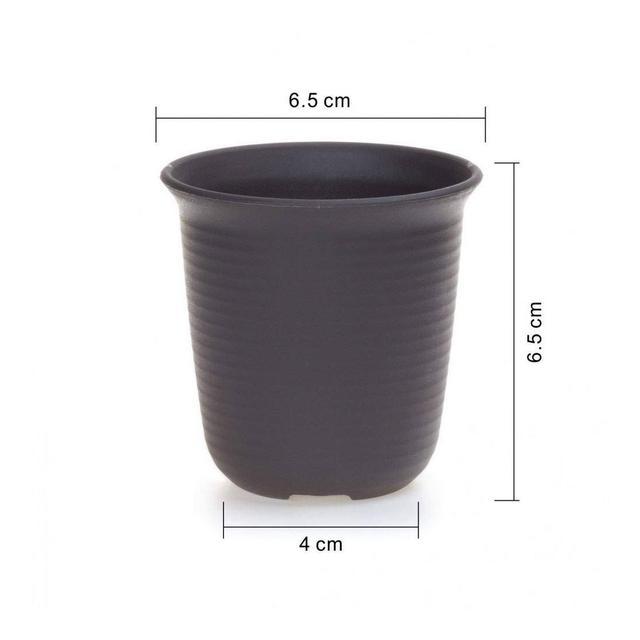 YIWAI Vaso di Fiori 35 Pollici di Plastica Rotonda Succulente Vaso da Fiori Cactus Bonsai Vasi di Fiori Contenitore Vaso Fioriera Decorazione del Giardino 10 PzLotto