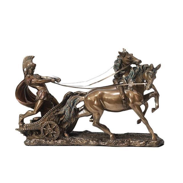 ZLBYB Collezione Top St George Che Uccide la Statua del Drago Scultura di Santo Romano Romano Antico in Bronzo Fuso figuri MedievaleMedievale Size B