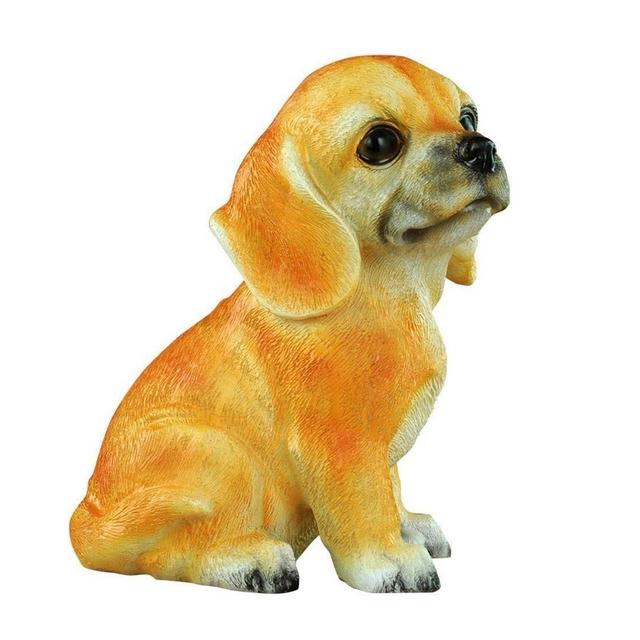 ZLBYB Contenitore di Moneta salvadaio Creativo del Cucciolo del Cane del Carlino del Cucciolo Sveglio della Resi di Alta emulazione