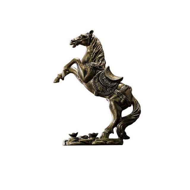 ZLBYB Statua Dorata del Cavallo da Passeggio for ricchezza Decorazione Domestica attira ricchezza e buo Fortu Arredamento Feng Shui
