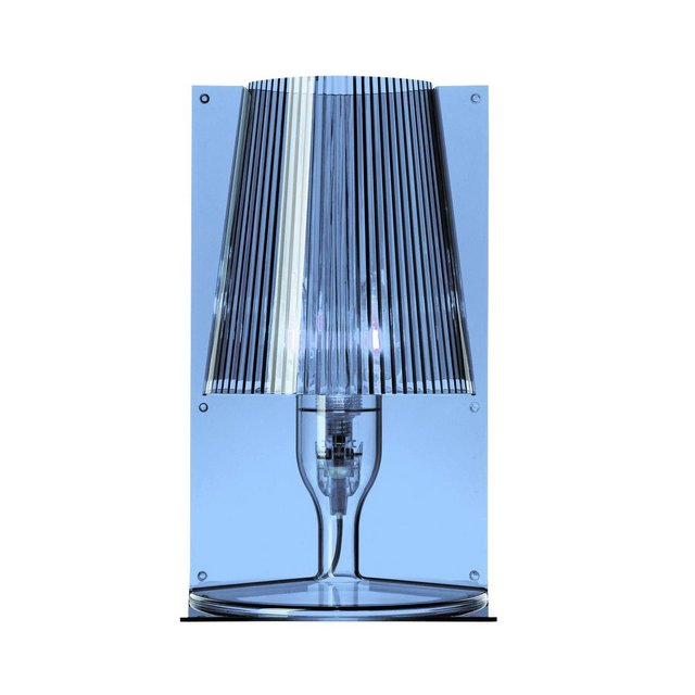 lampada da tavolo Take blu trasparente Design himmelblautransparentSchirm plissiert