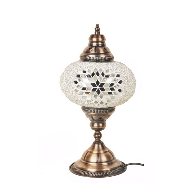 mosaicoflat00108 Lampada Bianco 17 cm H30 cm