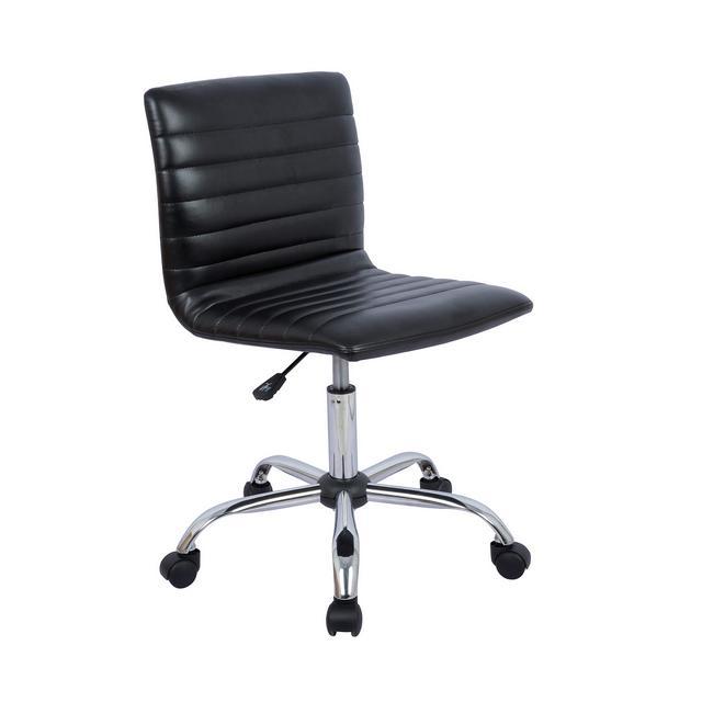 sedia da ufficio moder con parte bassa dello schiele regolabile senza braccioli con scalature Nera
