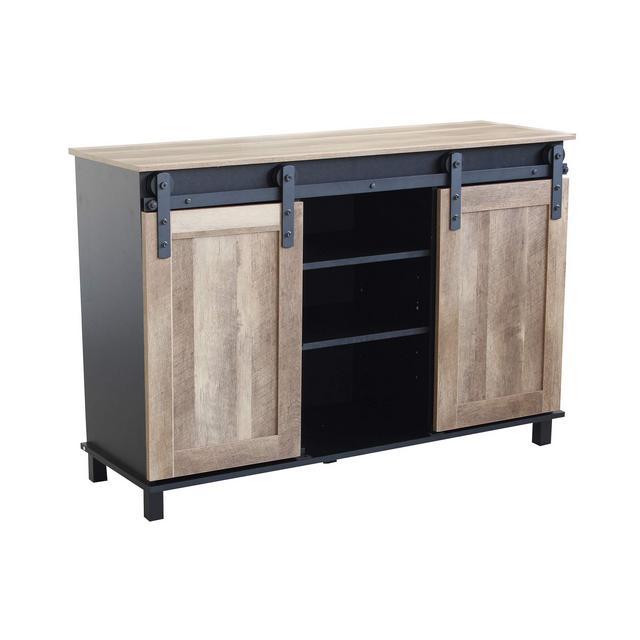 srls Credenza Mobile Madia Moder in Legno e Metallo di Design Moderno Stile Industriale cm 120 x 40 x 82 h